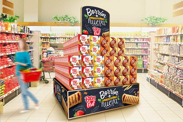 material POP para empresas de alimentos