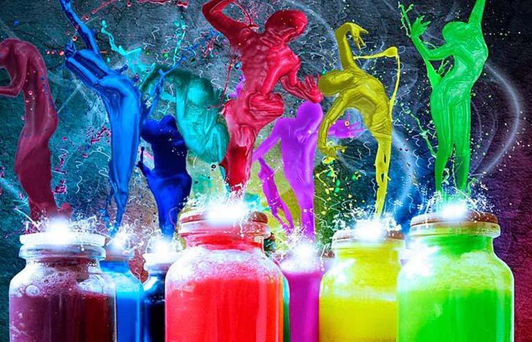 colores en el empaque de un producto