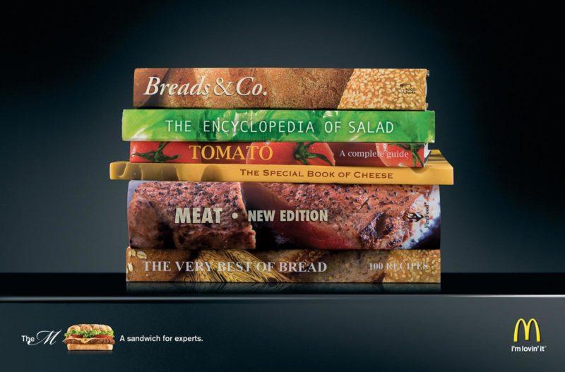 publicidades creativas para empresas de alimentos